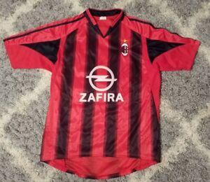 Vintage AC Milan Christian Vieri #32 Soccer Futbol Jersey Red Black Sz Small