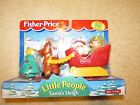 NEW Fisher Price Little People Santa's Sleigh 1997 Christmas Tree Elf Set