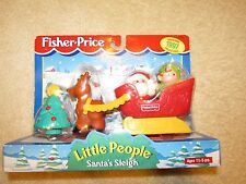 NEW Fisher Price Little People Santa's Sleigh 1997 Christmas Tree Elf