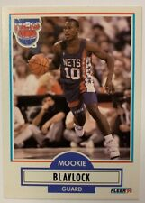MOOKIE BLAYLOCK 1990-91 Fleer Basketball #117 Rookie Card RC Nets