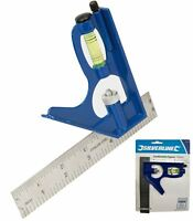 Silverline 150mm Mini Adjustable Combination Try Square Set Right Angle Ruler