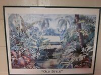 """Peggy Chun signed and framed print: """"Old Style"""""""