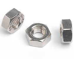 M2.5 M4 M5 M6 M8 M10 M12 A2-70 Stainless Steel Hexagon Full Nuts DIN934