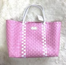 Kate Spade New York Large Pink Woven Tote Bag Beach/Shopping/Shoulder NWT