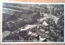 Ansichtskarte Frankfurt a.M. Hauptbahnhof Bahnhofsplatz gelaufen 10.03.1934