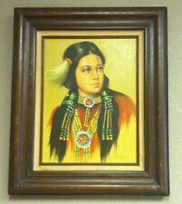 PERILLOFF? - Indian Girl Painting - Framed Original