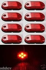 8x 4 LED Side Rear Marker RED Lights 24V for Truck Trailer Iveco MAN Scania DAF