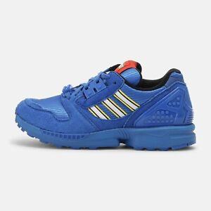 🔵 Adidas x LEGO ZX 8000 Jr Youth Kids Athletic Shoe Blue School Boys Sneakers