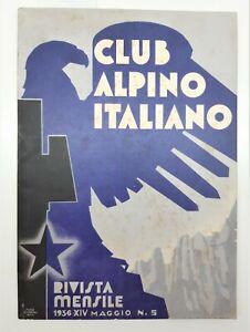 CLUB ALPINO ITALIANO RIVISTA MENSILE 1936 XIV MAGGIO N.5