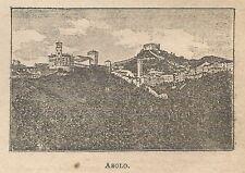 A0823 Asolo - Veduta - Stampa Antica del 1911 - Xilografia