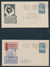"""#733 """"BYRD"""" FDC CACHETS (2) DIFFERENT IOOR & ANDERSON OCT 9,1933 CV $50 BU2783"""