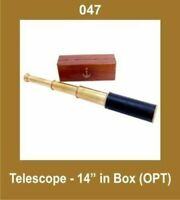 14'' Telescope in Box (Opt) Nautical Collectible Brass