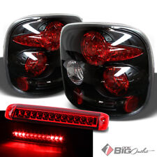 For 99-04 Silverado/Sierra StepSide Black Tail Lights + R/C 3rd Brake LED Cargo