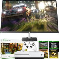 "Xbox One S 1TB Minecraft Bundle + HP 27"" Edge to Edge Full Gaming Monitor Bundle"