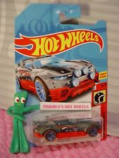 RALLY CAT 😸 Gray/red; blue TRAP5😸5/5 HW DAREDEVILS✰2018 i Hot Wheels WW case M