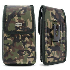 Camouflage Cell Phone Pouch with Belt Loop and Metal Clip Holster (3 Sizes)