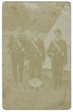 Bandsmen on Camp With Instruments, RP PPC, Unidentified Unit, by Somerset Maker