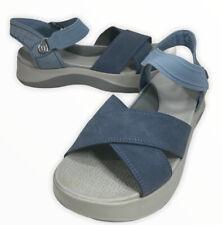 Bzees Women Sz 9 Sandals Crisscross Strap Poppy Shoe Lightweight Blue Comfort