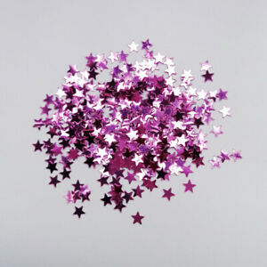 14g Star Table Confetti Wedding   Birthday Party Scatters DIY 3mm Rose Purple