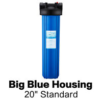 "20"" x 4.5"" Whole House Big Blue Water Filter Housing with Wrench & Bracket"