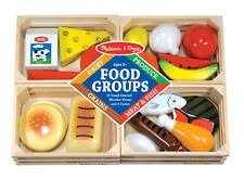 Cute Way to Learn! Melissa & Doug Food Groups - Wooden Play Food # 271