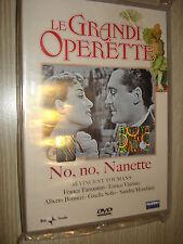 DVD LE GRANDI OPERETTE NO, NO, NANETTE CON FRANCA TAMANTINI SANDRA MONDAINI