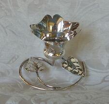 Vaso per fiori a gambo corto Art Nouveau Sheffield Silver Plate Posy vase c1910