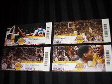 NBA LOS ANGELES LAKERS 4 TICKET STUBS 2007-08 SEASON GAME WINNING/TYING SHOTS