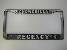 Chowchilla Regency Chevy Dealership Metal Licence Plate Frame Tag Holder Rare