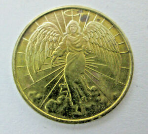 Angel of God Guardian Angel Brass Token from Catholic Relief Service CRS