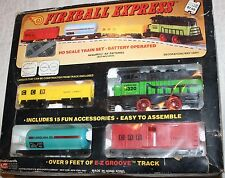 FIREBALL EXPRESS BATTERY OPERATED TRAIN SET, WOOLWORTH/WOOLCO #5320 - NIP