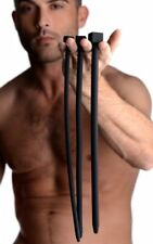 """Silicone Black Urethral Bolted Deluxe Sound Set, 13"""" long (7.5mm, 10mm, 11.5mm)"""