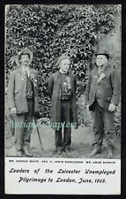 1905 Amos Sherriff Leaders Of Leicester Unemployed Pilgrimage To London Postcard