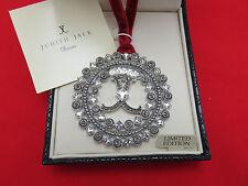 Judith Jack Christmas Holiday Ornament Marcasite Snowflake Crystal Logo 405h