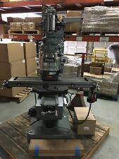 Bridgeport Milling Machine With 48tble Vari Speed Head Kurt Visedropower Feed