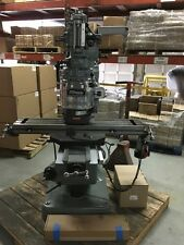 "Bridgeport Milling Machine with 42""Table & 2hp Vari Speed Head,Kurt Vise,& DRO"