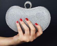 Entrambi i lati Cristallo Diamante Donna Sera Pochette Sposa Borsa Festa Matrimonio