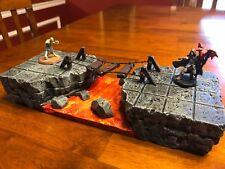 Dungeon Lava Bridge terrain 28mm wargaming Dungeons & Dragons Pathfinder d&d