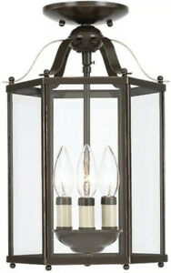 Sea Gull Lighting Three-Light Hall/Foyer in Heirloom Bronze - 5231-782