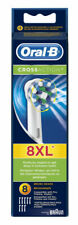 Oral-B CrossAction Toothbrush Replacement Heads Pack of 8 - White