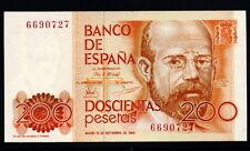 078-INDALO-Banco de España, Madrid. 200 Pesetas Septiembre 1980. Sin serie. SC !