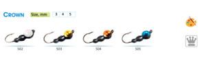 #832 2pcs Tungsten Ice Fishing Mormyshka Jig Half Ant Trio With Crown