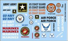 GOFER RACING MILITARY SPONSOR DECAL SET FOR 1:24 AND 1:25 SCALE MODEL CARS