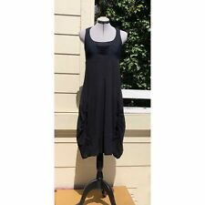 Deca de Vous A Nous Gathered Artsy Lagenlook Dress Sz 0 XS Black