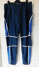 SOULUXE Blue White Training Workout Leggings Pants Size 16