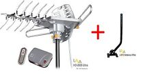 REFURBISHED - LAVA HD2605 HDTV DIGITAL ROTOR AMPLIFIED OUTDOOR TV ANTENNA+J-POLE