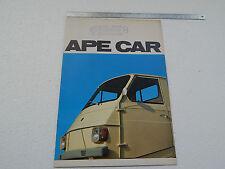 DEPLIANT ORIGINALE PIAGGIO APECAR APE CAR BROCHURE PROSPEKT RF.1