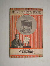 1923 Automatic Rapid Electric Cook Stove Home Science Brochure Cookbook Antique
