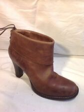 Bronx Brown Ankle Leather Boots Size 39