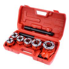 Ratchet Ratcheting Pipe Threader Kit Set w/ 6 Dies and Storage Case NEW
